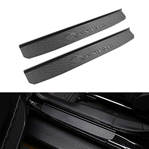 XBEEK Door Sill Guards for Jeep JL/JLU 2018 2019 Jeep Wrangler Black Entry Guards with Since 1941 Logo 2 Door
