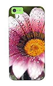 New Arrival Premium 5c Case Cover For Iphone (flower Rain Drops )