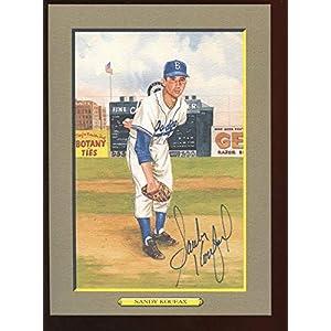 1987 Perez Steele Greatest Moments #16 Sandy Koufax Autographed Hologram Original MLB Art and Prints