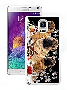 Fashion Style Christmas Dog White Samsung Galaxy Note 4 Case 5