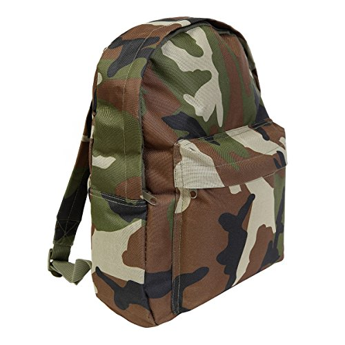 Price comparison product image Kids Army Woodland Camouflage Backpack 15ltr Camouflage Rucksack Bag