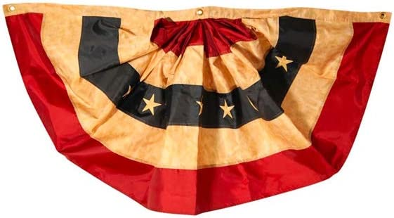 Tea Stained Patriotic Bunting USA 36