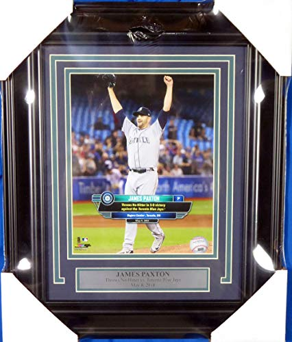 James Paxton Unsigned Framed No Hitter 8x10 Photo Seattle Mariners SKU ()