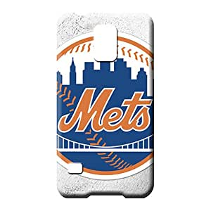 samsung galaxy s5 Heavy-duty Plastic Protective Stylish Cases cell phone carrying covers new york mets mlb baseball