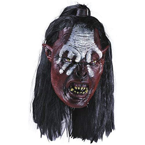 Lurtz Mask Adult Uruk Hai Orc LOTR Costume Fancy Dress Acsry