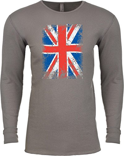 Union Jack Thermal Long Sleeve Shirt, Warm Gray Large