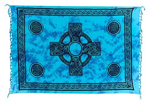 Kascha Trading - Camisola - para mujer Keltisch Türkis Blau Batik