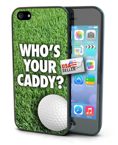 Golf Who's Your Caddy Sports Black Plastic Cover Case for iPhone 6 Plus (5.5 inch)