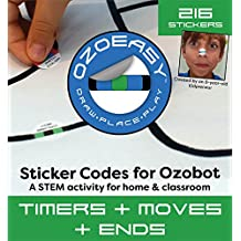Sticker Codes (Timers + Moves + Ends Pack) for use with Ozobot