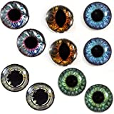 Product review for 30mm Steampunk Wholesale Glass Eyes Steampunk Cabochons for Jewelry or Craft Making 5 Pairs Bulk Lot