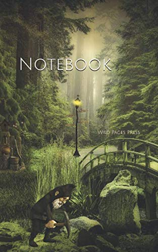 Notebook: Dwarf forest fantasy fairy tales landscape