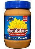 SunButter Sunflower Butter, Delicious, Naturally Crunchy Alternative to Peanut Butter, 16 oz plastic jars, Pack of 6