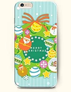 iPhone 6 Plus Case 5.5 Inches a Get-together - Happy Santa Claus and Snowman