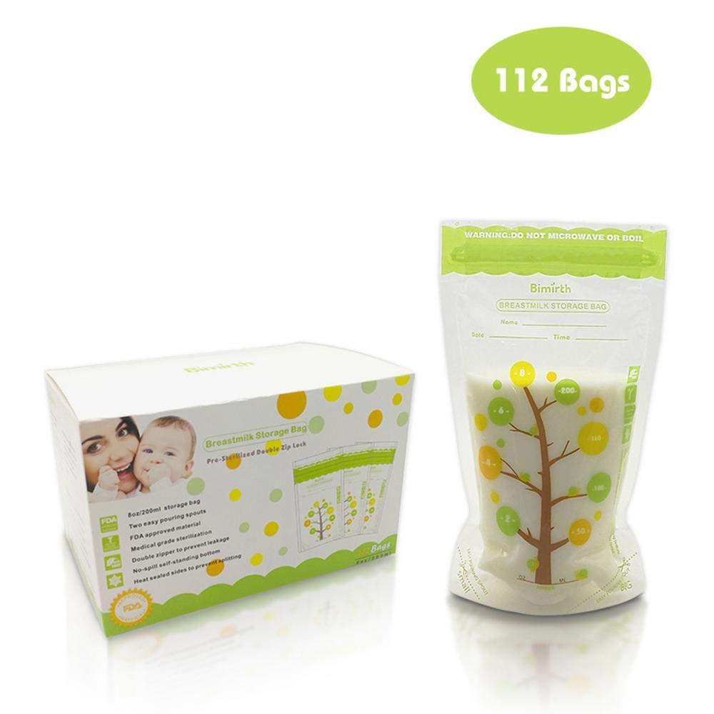 Aolvo Contenitori per Latte Materno Sacche per il Latte, 235ml Sacchetti per il Congelatore del Latte Materno Contenitori per lo Stoccaggio, Certificato FDA, Alta Qualità