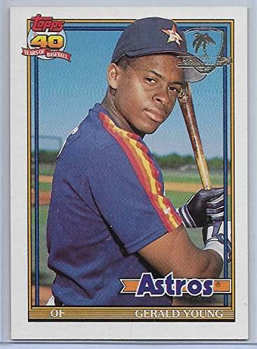 1991 Topps Operation Desert Storm Stamped Baseball Gerald Young Card # 626