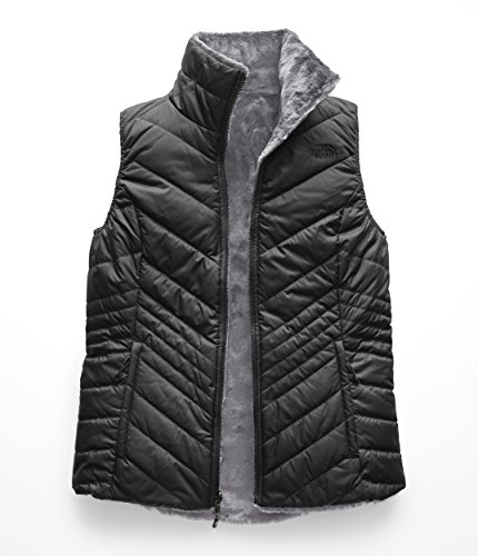 (The North Face Women's Mossbud Insulated Reversible Vest Asphalt Grey/Mid Grey Small)