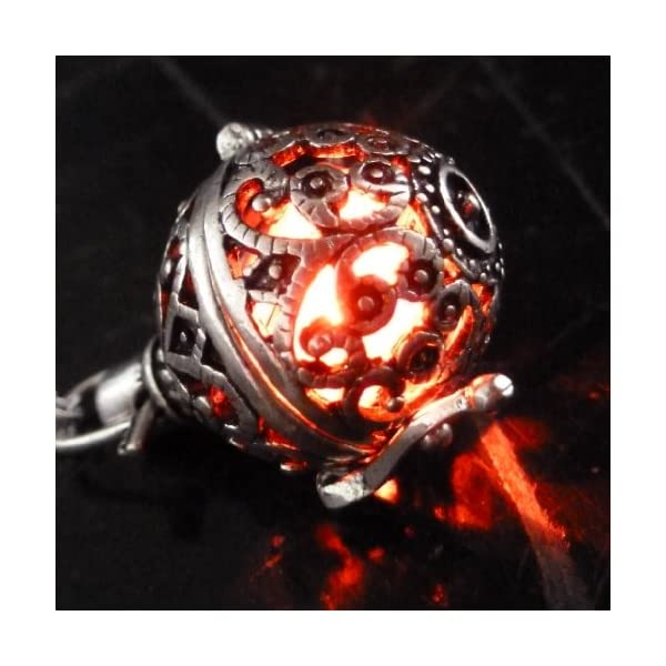 UMBRELLALABORATORY Steampunk FIRE Necklace - Pendant Glow Locket - Great Gifts for Teen Girls, Mother, Father, Little… 4