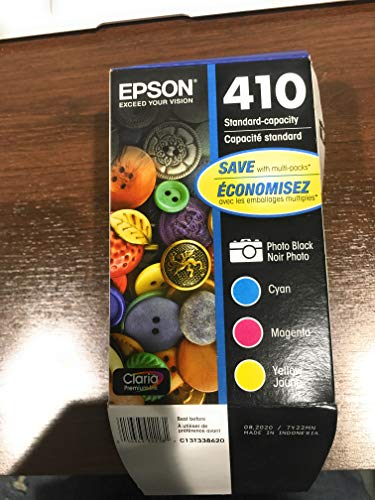 Epson T410520 (410) Ink Cartridge, Photo Black/Cyan/Magenta/Yellow, 4/PK (Best Price For Epson Ink Cartridges)