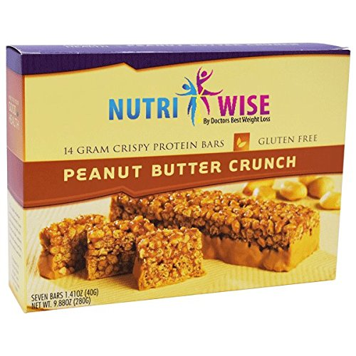 NutriWise - Peanut Butter Crunch Diet Protein Bars (7 bars) by NutriWise