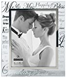 wedding picture frames - Malden International Designs Mirrored Glass With Silver Metal Inner Border Mr. and Mrs. Picture Frame, 8x10, Silver
