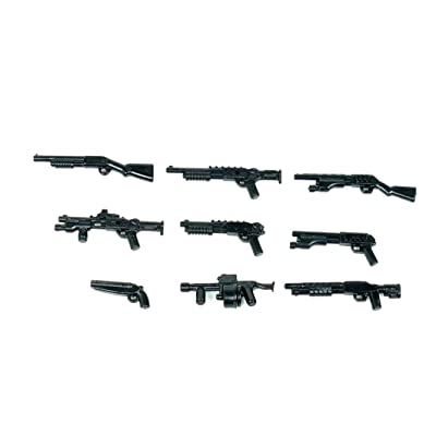 Custom 12 Gauge Shotgun Pack (P13) Designed for Brick Minifigures: Toys & Games