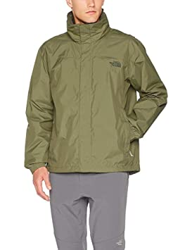 The North Face Resolve Jacket Chaqueta Impermeable, Hombre, Verde (Burnt Olive New Taupe