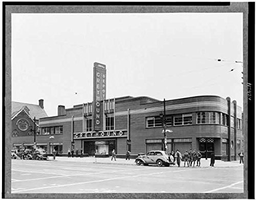 Photo: Greyhound Bus Station,Louisville,Kentucky,KY,c1938,Bus Terminal,Automobile