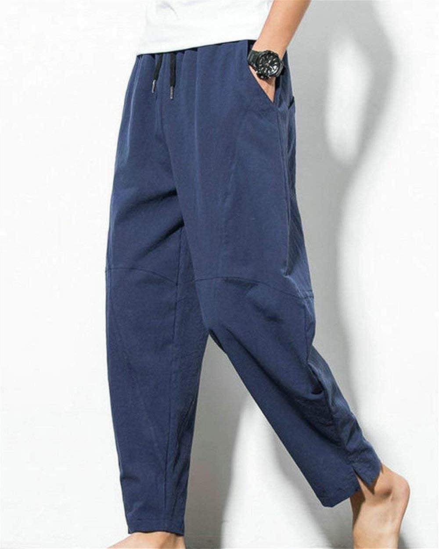 Crystallly Pantalones Para Hombres Pantalones Haren Pantalones Elegantes Largos De La Estilo Simple Manera De La Vendimia Pantalones Sueltos Hippie Harem De Verano Colores Solidos