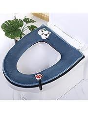 Toilet Seat Cover Cartoon Kat Patroon Flanel Waterdichte Toilet Seat Cover met Handle_1st