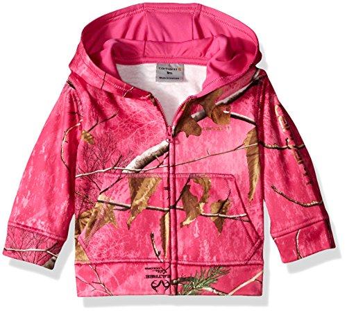 Sleeve Sweatshirt, Realtree Leaf Xtra Pink, 9 Months (Carhartt Chest Pocket Sweatshirt)