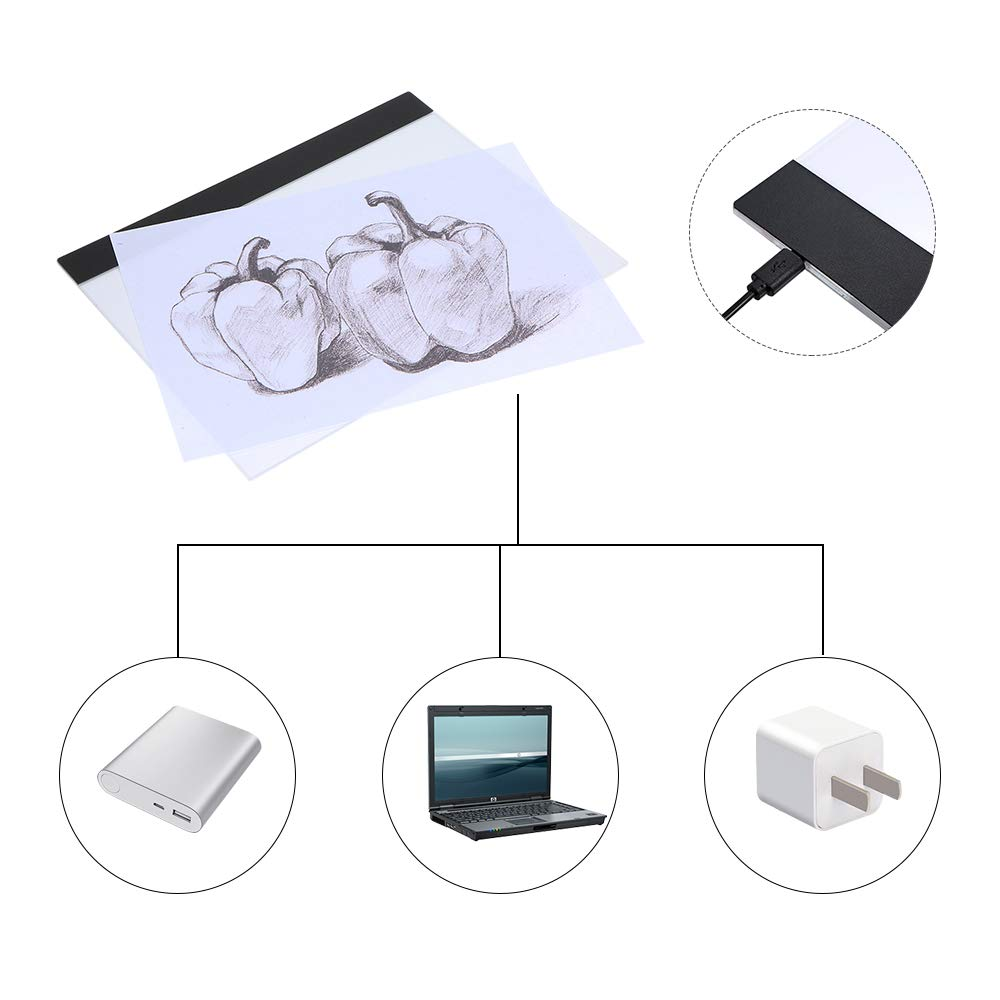 Docooler LED Graphic Tablet Schreiben Malerei A4 Kopieren Tabelle LED Board Copy Light Box Pausenbrett Pads Pausenbrett Digitale Zeichnung Tablet