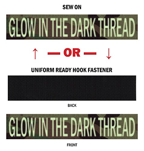 Safari Cami - Glow-in-The-Dark Personalized Military Name Tapes: Sew On or Sew On, Multicam/OCP 3.5