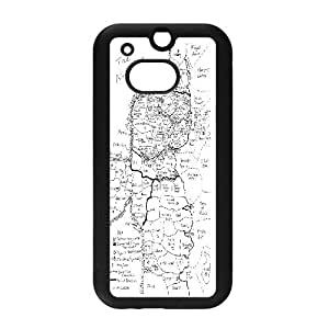 LTTcase Custom map Case for HTC one m8