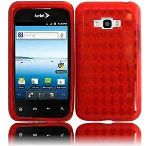 Red TPU Case Cover for LG Optimus Elite LS696