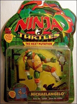 Ninja Turtles The Next Mutation Michaelangelo Vintage 1997 Action Figure -