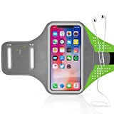 Sport Running Armband - Armtrek Pro Touch Water Resistant Package Arm Band Bag with Key Holder for iPhone X 8 7 Plus 6 6s Plus, Samsung Galaxy Note 8 7, LG G6 G5 Fingerprint Touch