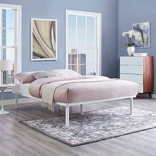 Modway Platform Bed Frame, Full, White
