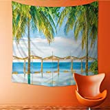 UHOO2018 Square Tapestry Beautiful Luxury Hotel Pool Resort Nearly Beach Bright Light Processing Style Throw, Bed, Tapestry, or Yoga Blanket 55W x 55L Inch