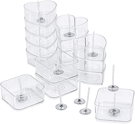100Pcs Clear Empty Tealight Cups Wax Containers Candle Mold Case Candle Holder