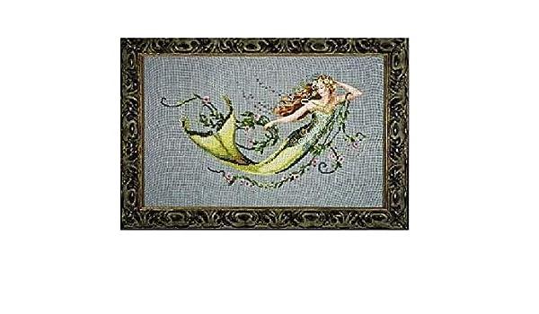 Emerald Mermaid Counted Cross Stitch Chart Pattern