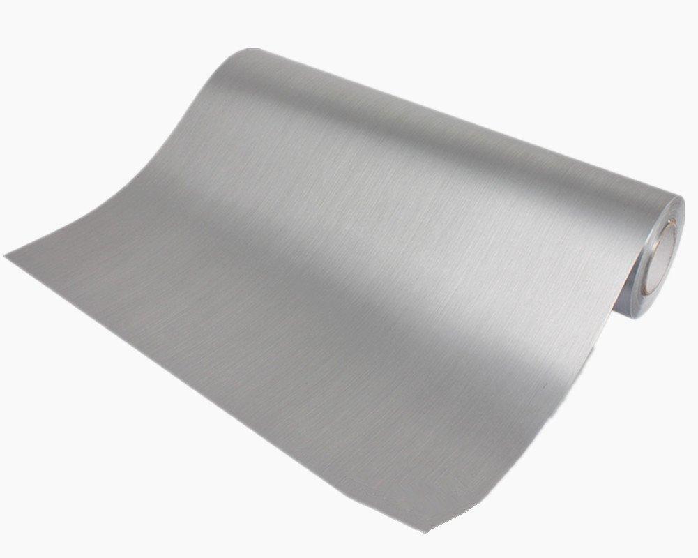 Amazon.com: Papel pintado de acero inoxidable autoadhesivo ...