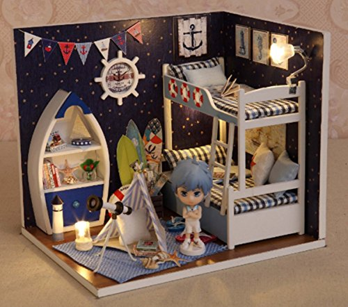 Flever Dollhouse Miniature DIY House Kit Creative Room With Furniture and Cover Plus Cute Doll For Romantic Artwork Gift(Face The - The How Choose To Right Sunglasses For Your Face