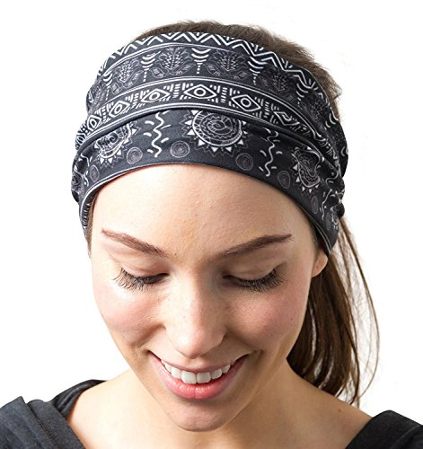 RiptGear Running Headband Tribal Black and White