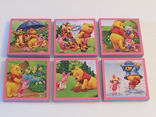 Winnie the Pooh Note Pads Set of 6 - Excellent Party Favors - Winnie the Pooh | Piglet | Tigger - Pooh Notepad