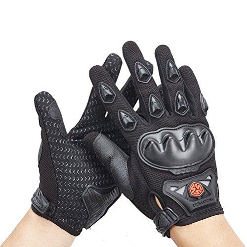 Wonzone Men's BMX MX ATV Powersports Racing Gloves Bicycle MTB Racing Off-road/Dirt bike Sports Gloves (Black, Medium)
