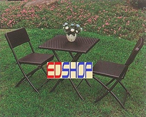 set giardino tavolo pieghevole set tavolo + 2 sedie pieghevole ...