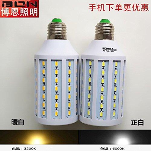 NIKU-bombilla LED E27 Luz de maíz 5730 Fuente de luz ultrabrillante E27 20W Bombillas LED de luz blanca cálida de origen,: Amazon.es: Iluminación