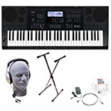 Casio Inc. CTK6200 EPA 61-Key Premium Keyboard Package with Headphones, Stand, Power Supply, 6-Foot USB Cable and eMedia Instructional Software