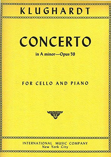 KLUGHARDT A. - Concierto Op.59 en La menor para Violoncello y Piano