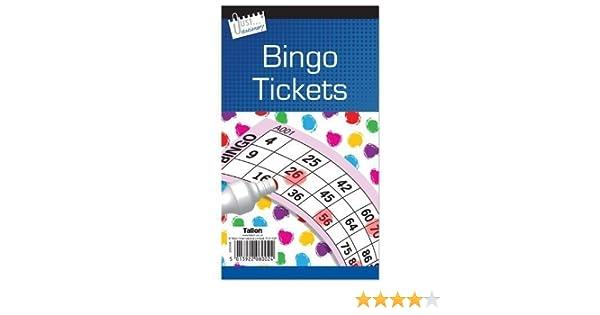 3 x Libro de Bingo / Bloc de 480 tickets Jumbo 6 para ver Comprar 1 Obtenga 1 GRATIS (números grandes, negritos, fáciles de leer): Amazon.es: Hogar